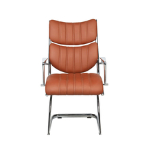 Custom PU leather fashion relax back reclining mesh office chair seat