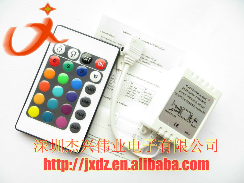 RGB LED controller 24 keys remote control Dimmer for LED strip