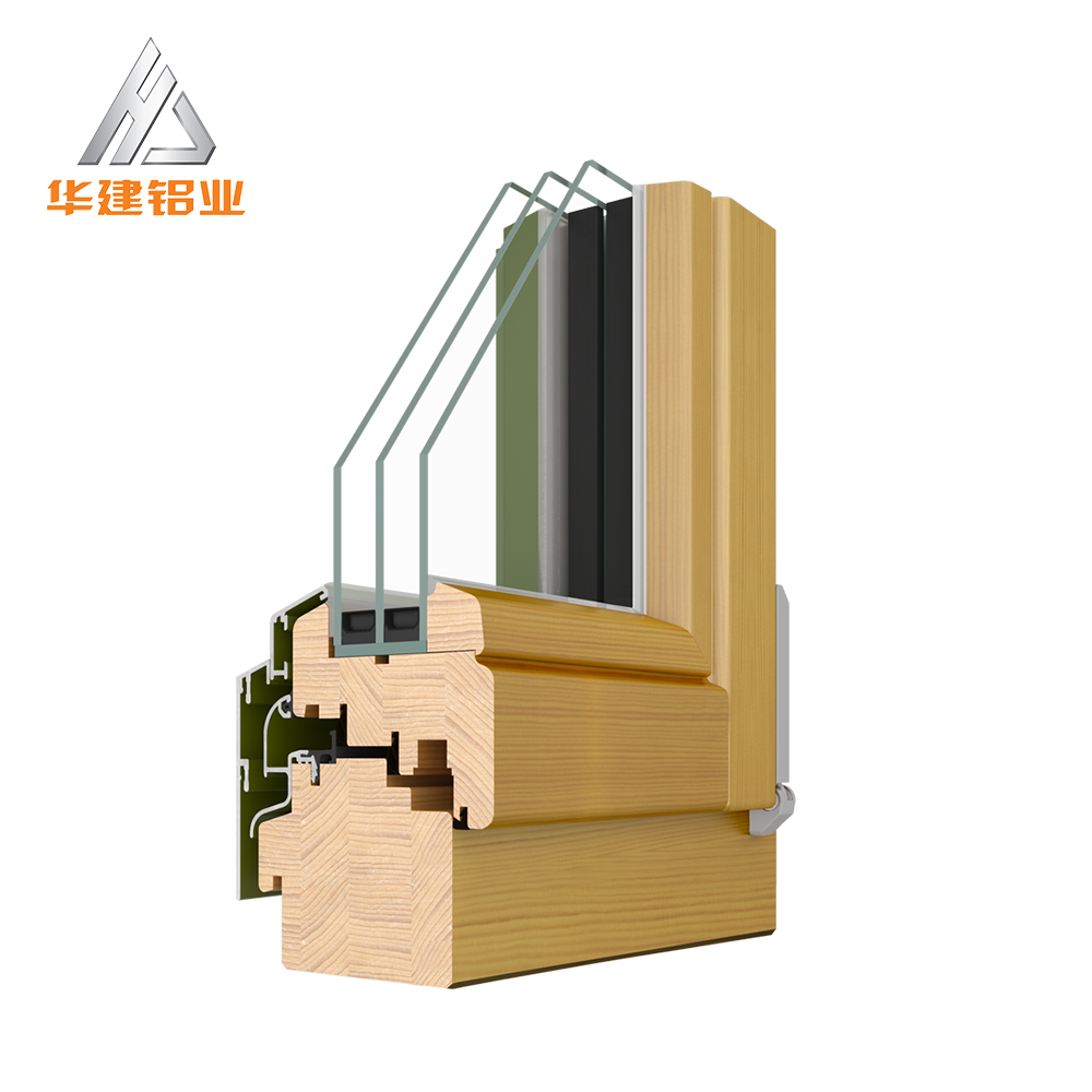 timber aluminum clad wood frame casement window Clading Timber Windows door with double 3 layer triple glazing