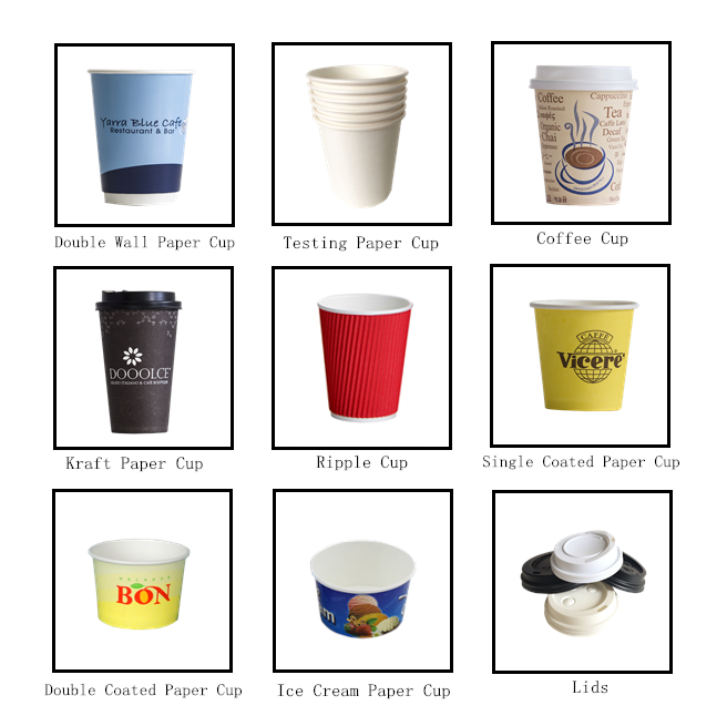 Blue Double Wall Disposable coffer paper cups