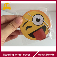 hanging paper air freshener/emoji paper freshener for home, office, car