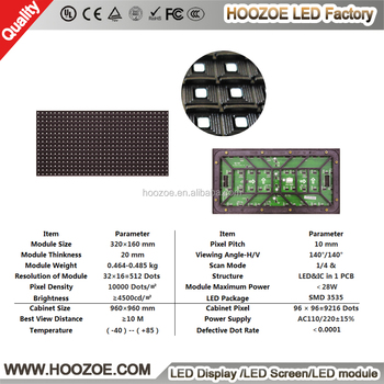 2017 Hot sale outdoor led display P5 P6 P8 P10 SMD RGB LED module & Panel