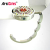 Handmade metal mirror bag purse hook handbag hanger holder wholesale