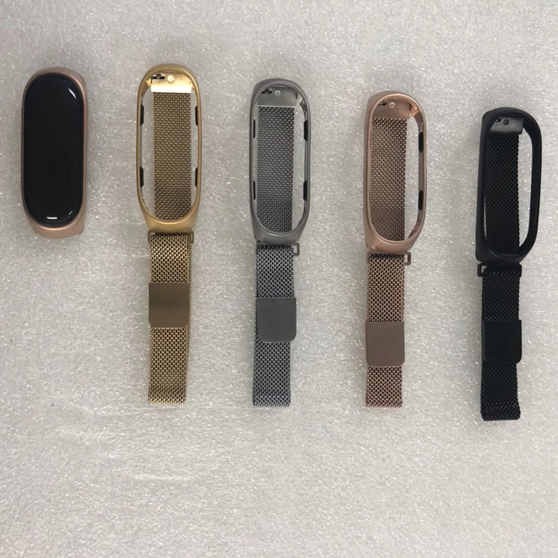 Milanese Loop With Metal Case For Xiaomi 3 Band, Stainless Steel Watch Bracelet For Xiaomi Mi4 Band