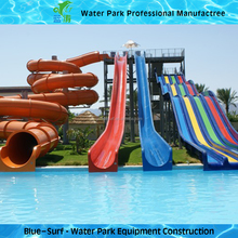 Joyful Combination Fiberglass Water Park Slides for Sale