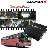 4 Channel Web Surveillance GPS Track Vehicle Camera SD card mobile dvr 4 ch gps 3g for firetruck/party bus
