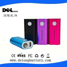 2015 flashlight customized power bank 4400mah 5200mah with on-off button