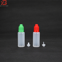 Factory price refillable 20ml PE plastic type and e juice/e cigarette oil use 20ml dropper bottle with child proof cap