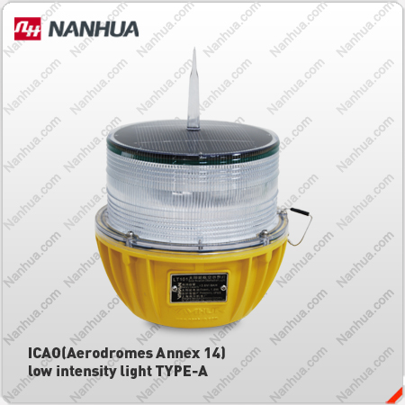 NANHUA LT101 LED solar aircraft warning light&lamp china supplier for telecom tower