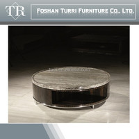 high quality nature marble round coffee table for luxury home furniture