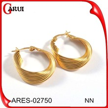 fashion jewelry Hot Popular middle east style earrings plate gold earring