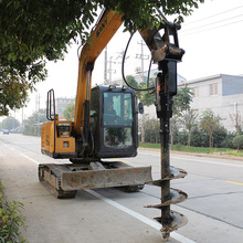 Hydraulic piling earth auger for excavators