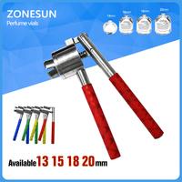 ZONESUN Manual 13mm 20mm Vial Crimper,Hand crimping machine for vials,flip off cap crimping tool