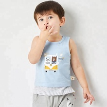 new style fashion <strong>boy's</strong> sleeveless custom design cotton t shirt