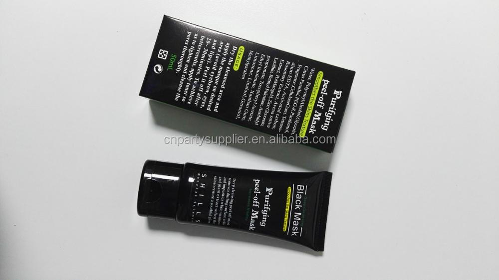 OEM Disposable Natural Bamboo Charcoal peel off Black Head Mask