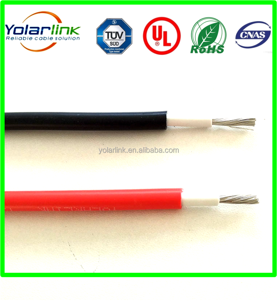 Copper wire solar pv cable with TUV and UL (cul) approval