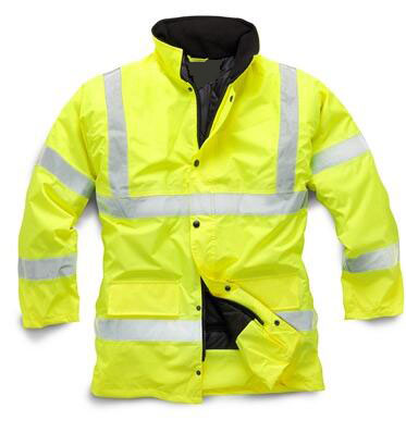High Visibility Winter 3m Reflective Safety Cold Weather Quilted Jacket