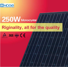 Moge monocrystal 250w solar cells, panel made in shenzhen china