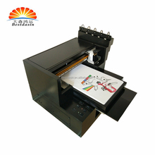 a3 digital flatbed printer / all in one desktop t shirt printer / flatbed uv printer a3