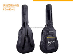 Special acoustic guitar cotton with yellow line bags :PG-A12-41