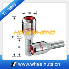 different color cap wheel lock bolt for racing car