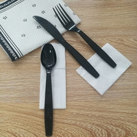 Heavy weight PS Disposable Plastic Tableware Spoon Knife Fork Set