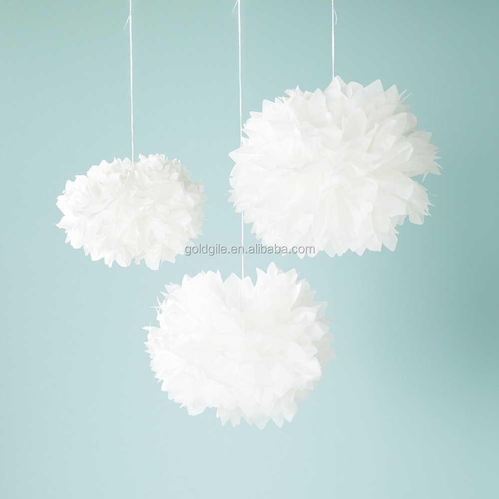 Goldgile Most Popular Tissue Pom Poms with V Shape