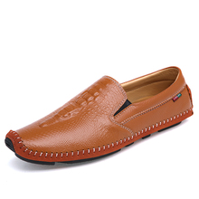 Men's Casual Leather Flat Leather Shoes Super Lightweight Boat Shoes For Men Good Quality Leather Loafers 8508ABCDE