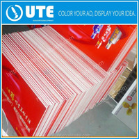 One side self adhesive foam board/advertising printing graphic boards