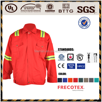 workwear jacket EN13034 240GSM 65%Polyester 35%Cotton Acid Alakli Resistant