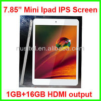 7 inch Action Quad Core Tablet PC with Original Mini Ipad IPS screen 1280*800 1G+16G