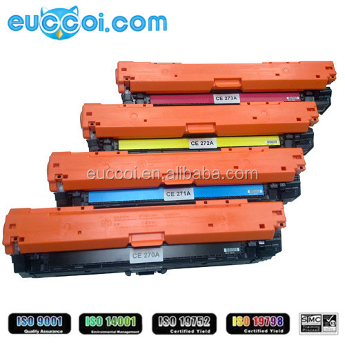 650A (CE270A CE271A CE272A CE273A) Replacement Color Laserjet Print Cartridge for Printers