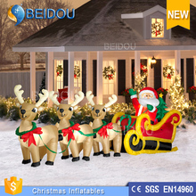 Outdoor inflatable lighted Christmas Animated Train For Decorations