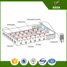 ISO9001qualified birdsitter broiler poultry farm house design