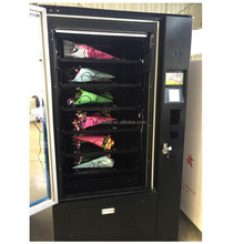 Fresh flower vending machine with cooling system and lift