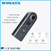 2017 Surround View Camera-Omniview Google Dual Lens Spherical Fisheye Wireless Panoramic View 360 Degree VR 360 Camera
