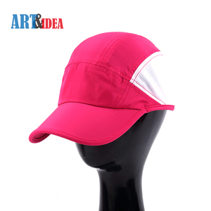 China manufacturer outdoor polyester hats rose red unstructured sports cap