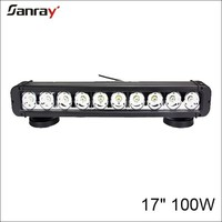 17 inch 100w waterproof spot/flood/combo beam led driving light bar for agricutural vehicles/motorcycle vehicles