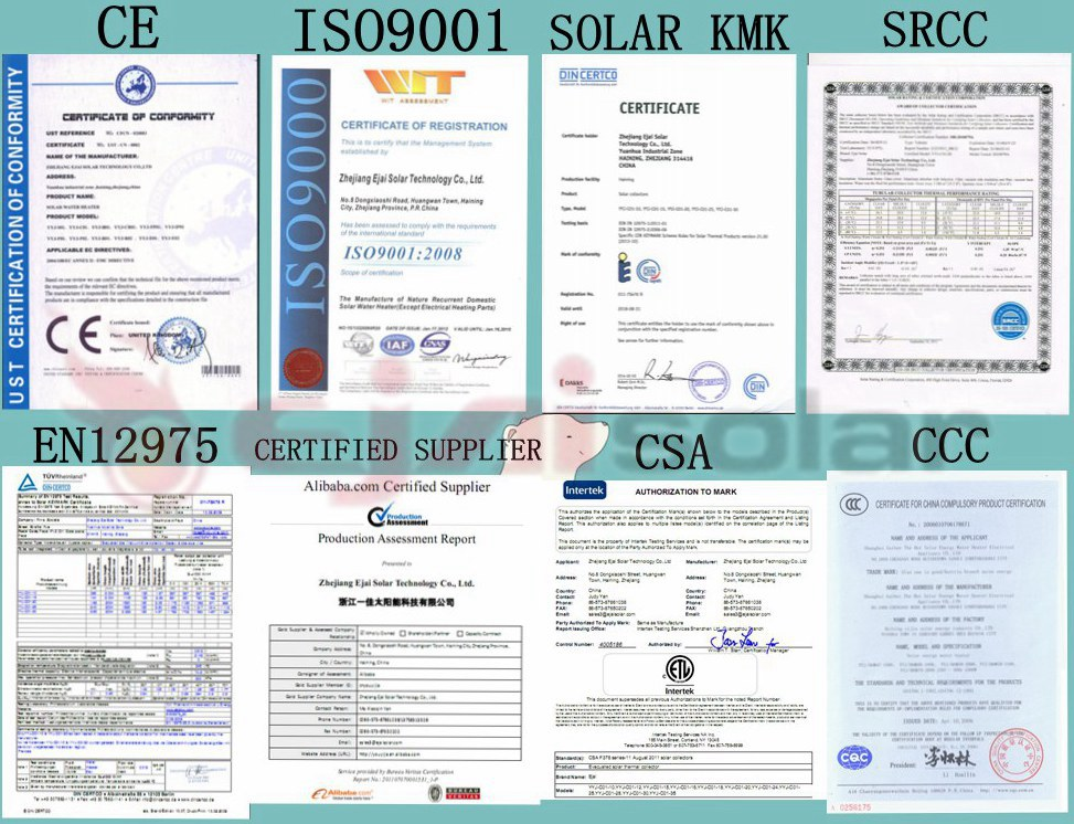 Jiaxing Split Pressurized Solar System Manufacturer With SRCC,Solar KMK