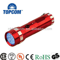 Silk screen 3*AAA battery 14 led uv flashlight