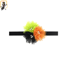 haoxie brand custom wholeslae Hallowmas lace flower hair band thin elastic baby headband