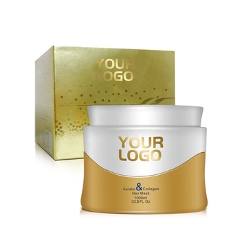 OEm/ODM 1000ML keratin gold hair mask with collagen for repair hair