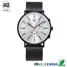 AIBI Stylish OEM Trend Design Gold Stainless Steel Quartz Mens Watch