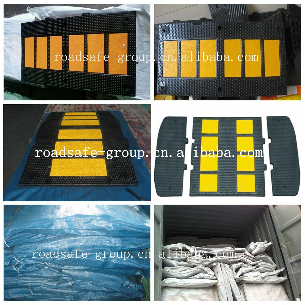 heavy duty rubber speed hump, road speed bump limited