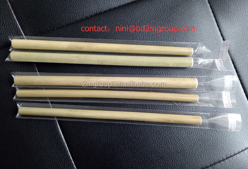 Bamboo Material bamboo drinking straws with opp bag package