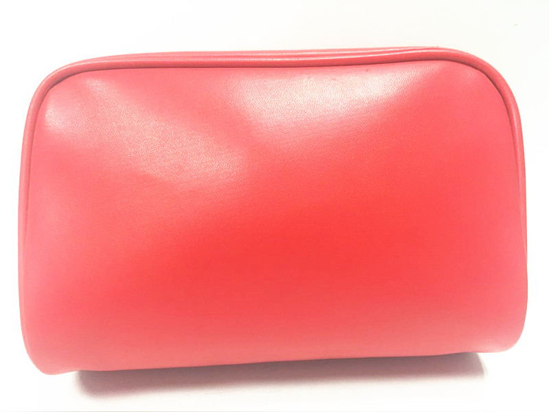 Special good quality fancy faux leather cosmetic bag
