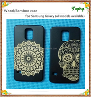 Best selling Bamboo mobile case for Samsung s5 case/Wood mobile phone case for girls factory price