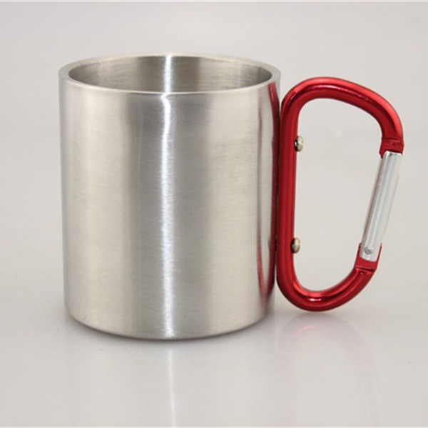 2015 hot sale Double layer 201/304 stainless steel belt mountaineering buckle koubei coffee cup