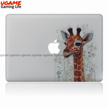 Cute giraffe pattern vinyl laptop oem skin sticker