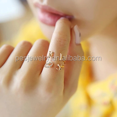 PES Fashion Jewelry! Lip Shape Design Kiss Ring Adjustable Size (PES6-2010)